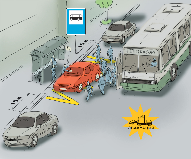 Остановка и стоянка на автобусной остановке (все по полочкам)