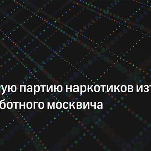 Крупную партию наркотиков изъяли у безработного москвича
