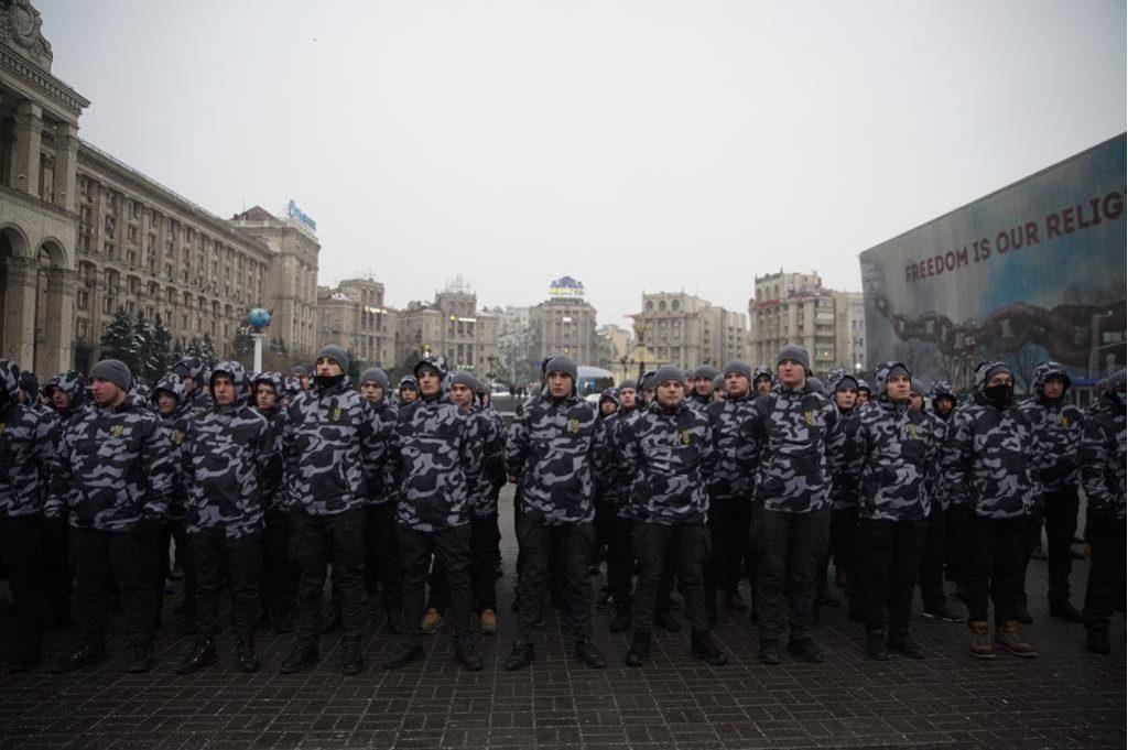 На киевском Майдане собрались боевики радикальных группировок