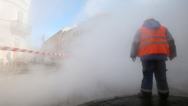 В Санкт-Петербурге прорвало трубопровод с горячей водой