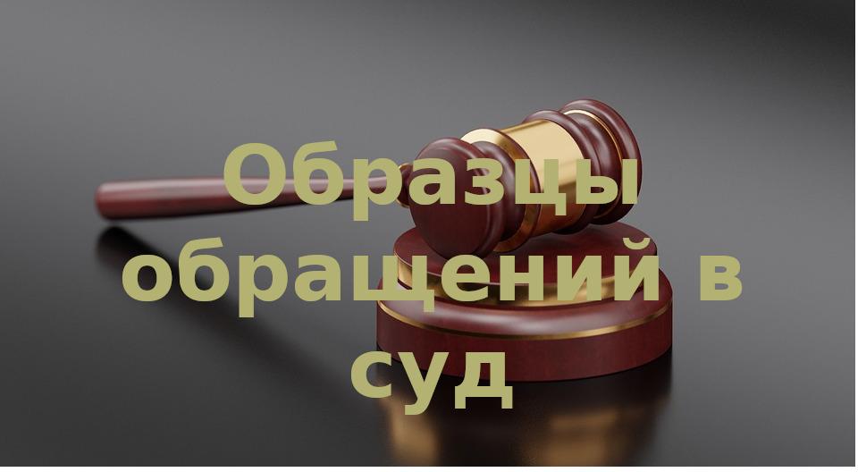 Где найти образцы заявлений для обращения в суд?