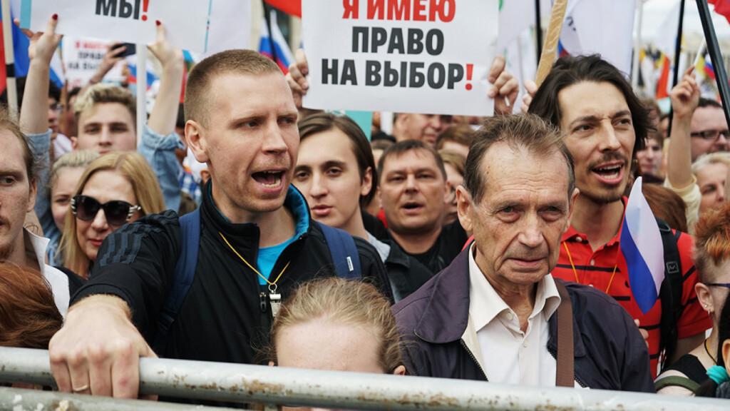 Более 20 000 митингующих в Москве за свободные выборы.Видео.