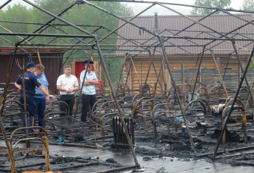 По факту пожара в детском лагере под Хабаровском возбуждено дело