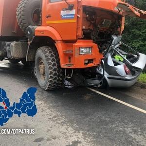 После ДТП с тремя погибшими движение по трассе А-114 в Ленобласти полностью перекрыли
