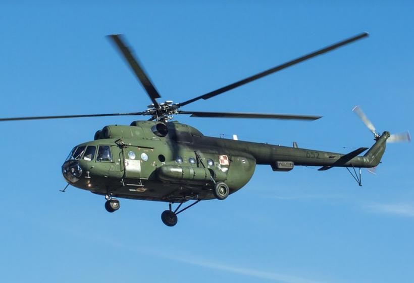В Саратовской области разбился военный вертолет