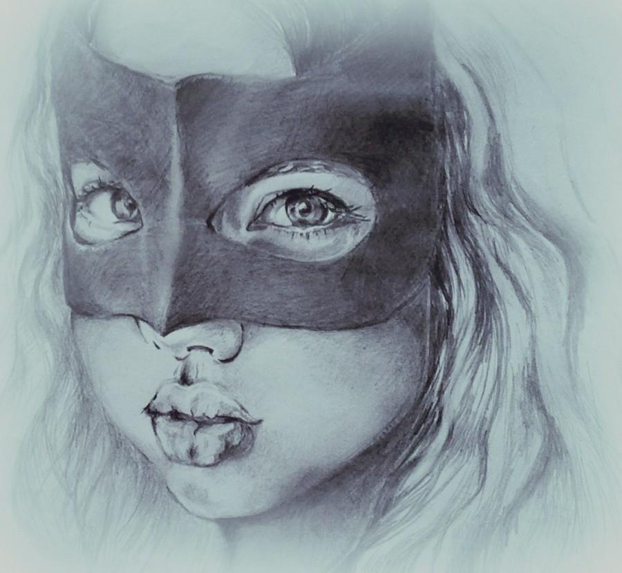 Рисованные картинки в масках