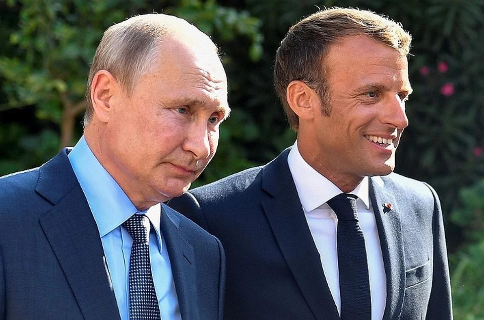 Президент РФ обсудил с Макроном действие соединённых штатов Америки