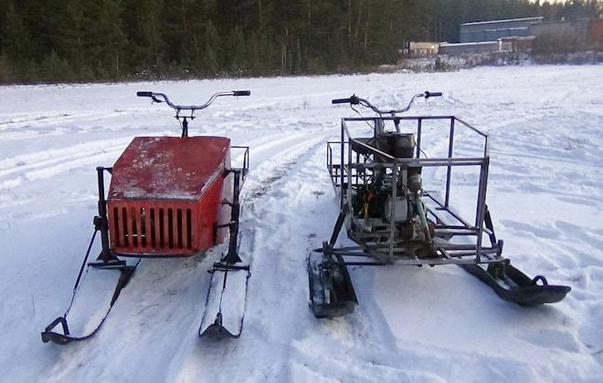Самоделки для езды по снегу!