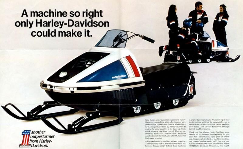 Снегоход Harley-Davidson!