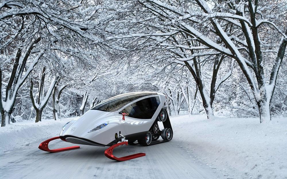 Концепт электрического снегохода Snow Crawler