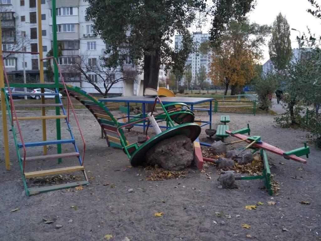 Обустройство детской площадки во дворе