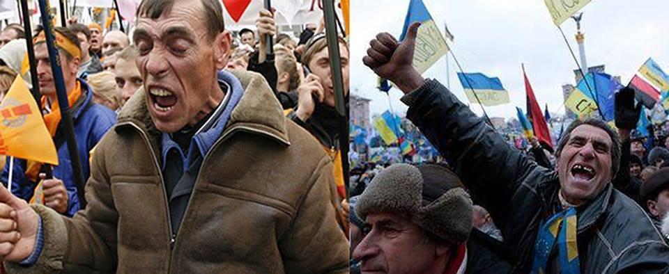 «Никогда мы не будем братьями»: Обедневшие майдауны хлынули в Россию.