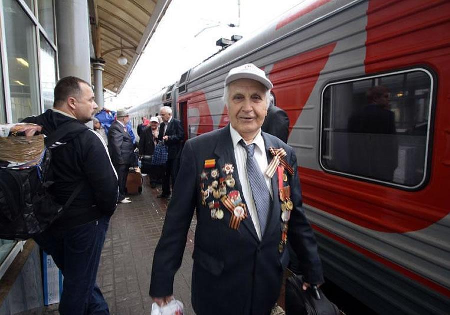 Ветераны ВОВ получили бесплатный проезд в поездах - пожизненно