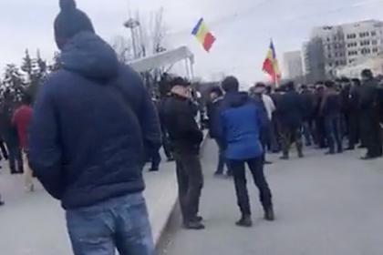 Ветераны конфликта в Приднестровье штурмовали правительство Молдавии