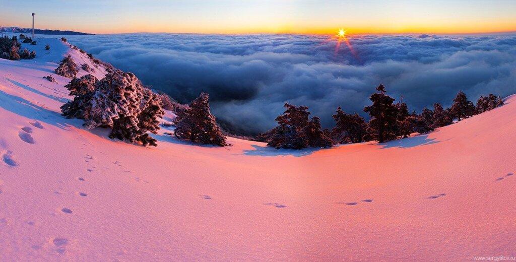 А вы видели горный Крым зимой?